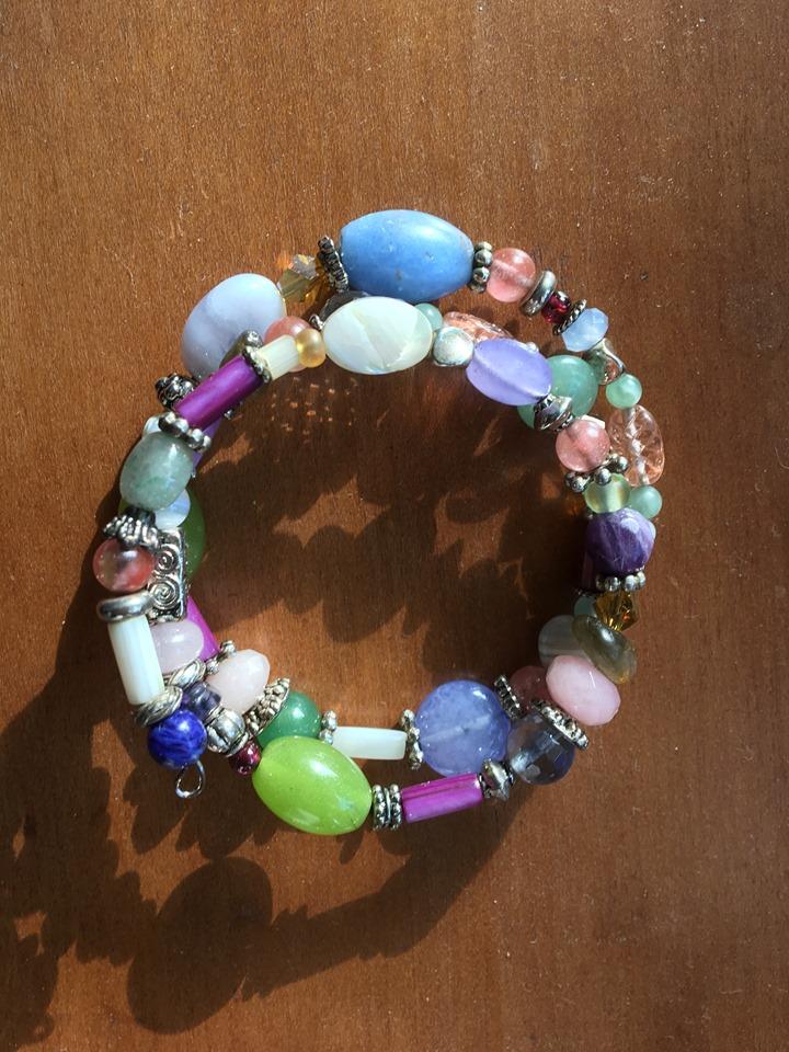 Crafty writer's own memory wire bracelet