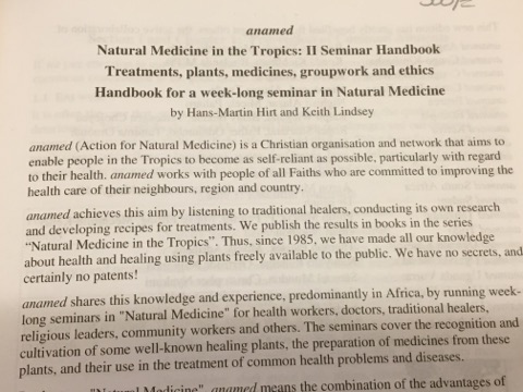 Preface of free booklet that encourages copying and sharing the information about Sweet Annie and other natural remedies in the tropics.